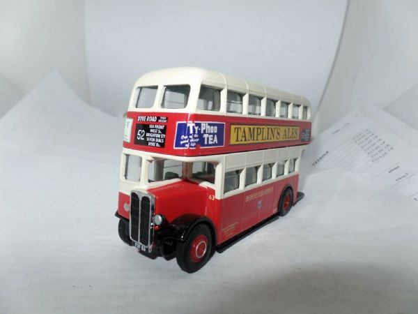 Corgi OOC 40404 AEC REGENT II WEYMANN BRIGHTON HOVE & DISTRICT Ticket Promo UB